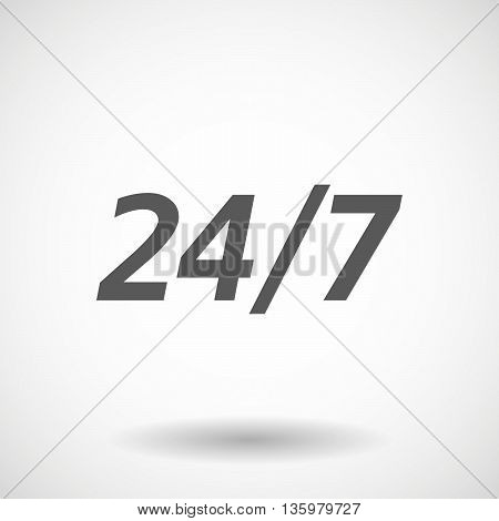 Illustration Of   The Text 24/7