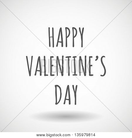 Illustration Of    The Text Happy Valentine´s Day