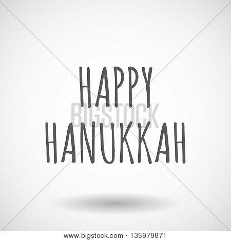 Illustration Of    The Text Happy Hanukkah