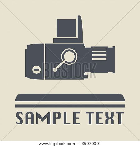 Abstract Retro photography icon or sign, vector illustration