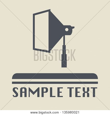Abstract Studio flash icon or sign, vector illustration