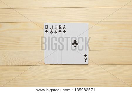 clubs Royal Flush poker combination play cards