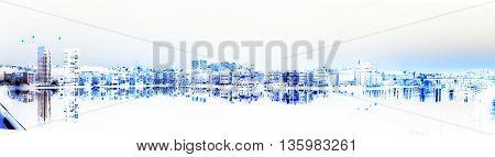 City In Negative Color