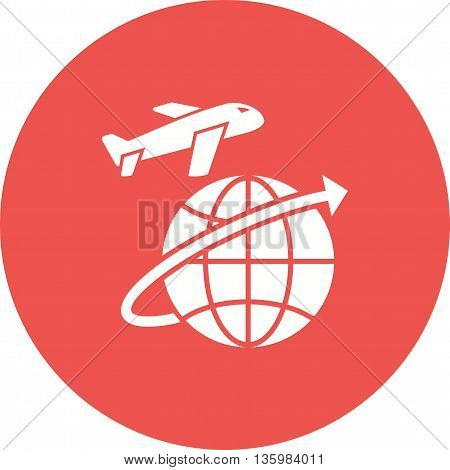 Flight, global, cargo icon vector image. Can also be used for logistics. Suitable for mobile apps, web apps and print media.