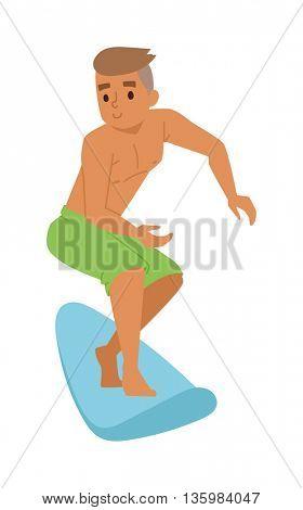 Surfing boy vector boy.