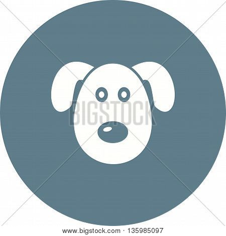 Dog, puppy, face icon vector image. Can also be used for pet shop. Suitable for use on web apps, mobile apps and print media.