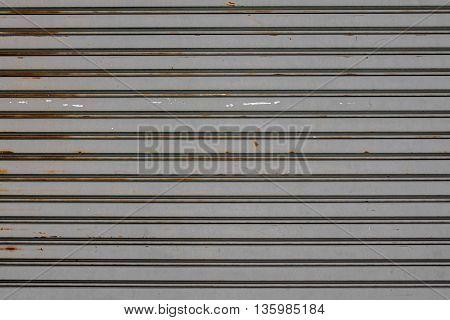 Old Rusty  Slide Door ,roller Shutter Texture