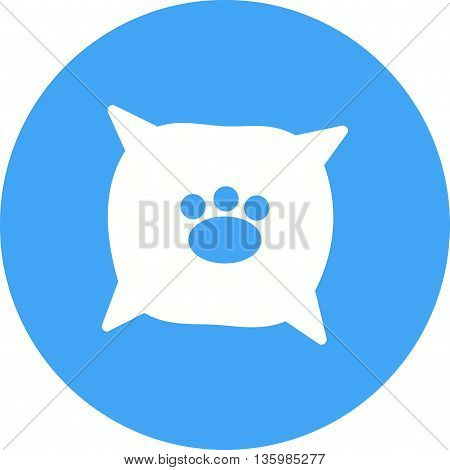 Dog, pet, cushion icon vector image. Can also be used for pet shop. Suitable for use on web apps, mobile apps and print media.