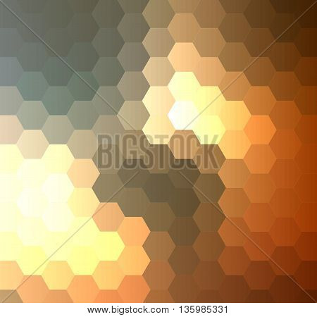 Abstract green geometric hexagonal background vector illustration