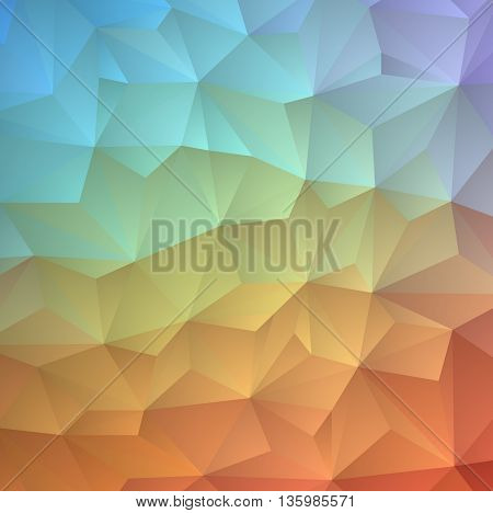 abstract background consisting of triangles vector illustration