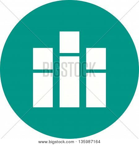 Bar, chart, vertical icon vector image. Can also be used for infographics. Suitable for use on web apps, mobile apps and print media.