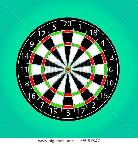 Colored simple Darts vector illustration art design