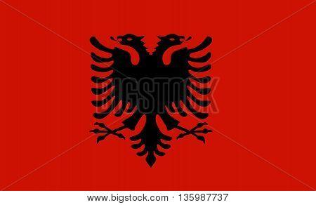 Original colored flag of Albania art design
