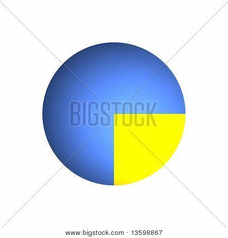 25% Business Pie Chart