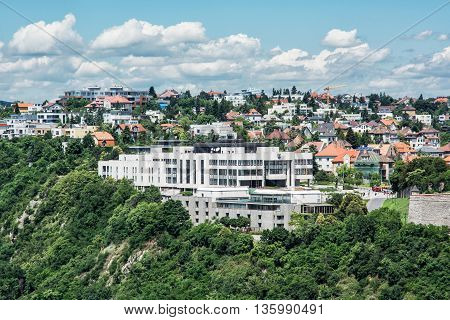 Parliament building in Bratislava city Slovak republic. Architectural theme. Legislative power. European Union. Travel destination.