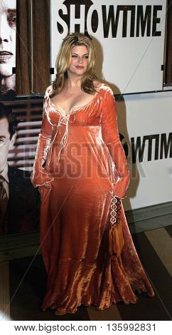 Kirstie Alley at the 56th Annual Primetime Emmy Awards - Showtime After Party held at the Morton's in Beverly Hills, USA on September 19, 2004.