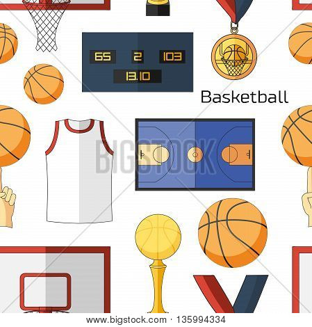 Basketball icons pattern. Basketball game icon, element for basketball play, basketball illustration.