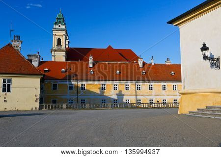 Church in town of Valtice in Moravia, Czech Republic.