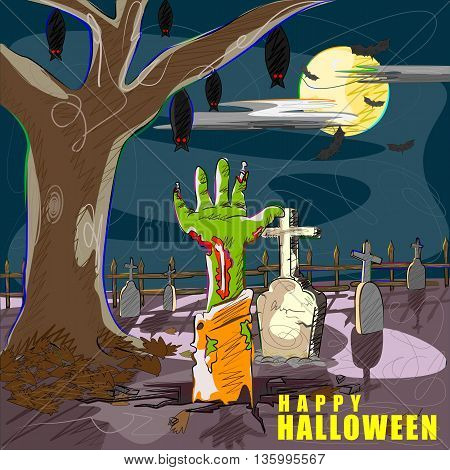 Vector design of Halloween celebration greeting background
