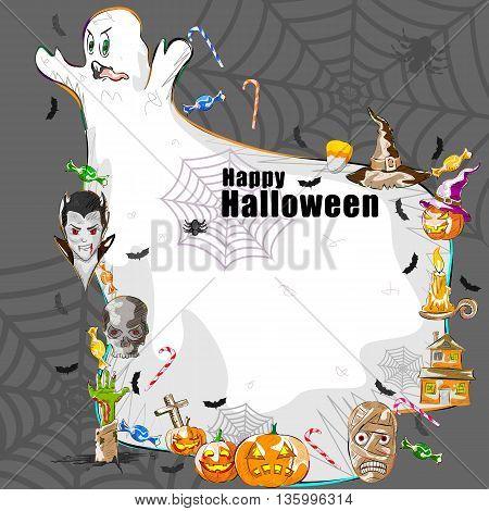 Vector design of Halloween celebration greeting background