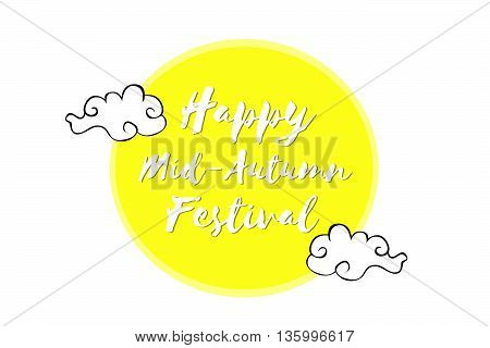 Happy Mid Autumn Chinese Festival banner, illustration
