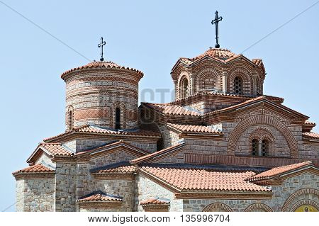 Part of the orthodox church Plaosnik in Ohrid