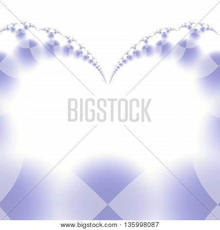 Blue gray Colored fractal pattern on white background