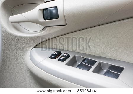 personal car control panel at the right hand of driver