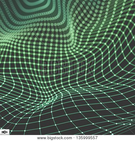 Network Abstract Background. 3d Technology Vector Illustration
