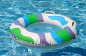 Swimming Pool Inner Tube Toy poster