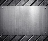 foto of oblique  - metal pattern background - JPG