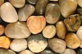 Colorful Polished Pebbles Close Up View poster