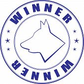 Vector Sketch Of Stamp For Certificate Of Canine Club poster