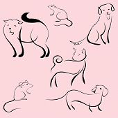 Domestic Animals Design Set poster