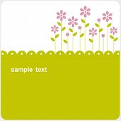 foto of greeting card design  - vector floral card design - JPG