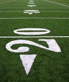 pic of football field  - A photo of a football field - JPG