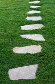 picture of stepping stones  - A photo of a pathway  - JPG