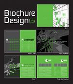 Brochure Layout Design Template with 10 Pages (5 Spreads) Preview.