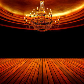 image of flambeau  - interior of classic hall - JPG