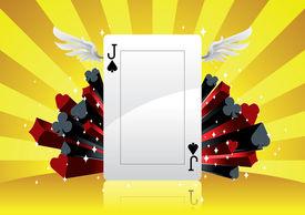 stock photo of eunuch  - Poker Background - JPG
