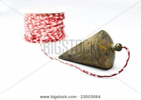 Plumb Bob With On White Background