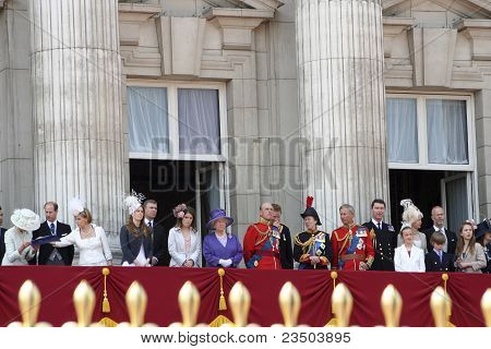 Royal Family At The Terrace Of Buckingham Palace