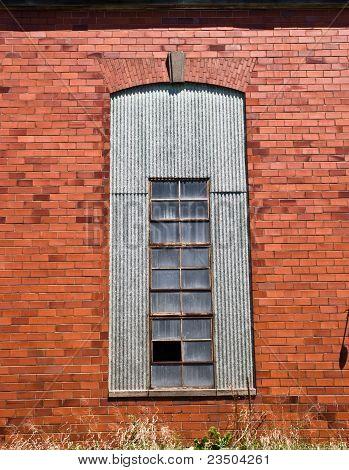 Red brick window