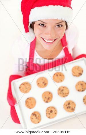 Christmas Baking Santa Woman