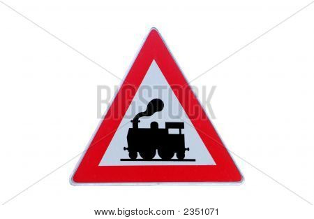 Traffic Sign Rail Road Crossing
