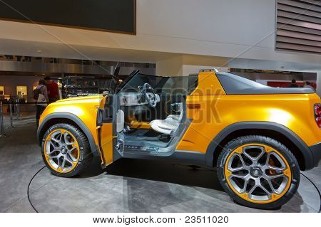 FRANKFURT - SEP 17: Land Rover DC100 Sport shown at the 64th Internationale Automobil Ausstellung (IAA) on September 17, 2011 in Frankfurt, Germany.