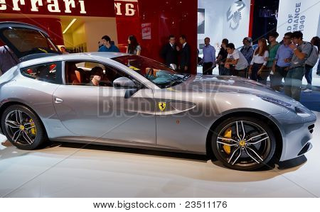 FRANKFURT - SEP 17: Ferrari FF sport car shown at the 64th Internationale Automobil Ausstellung (IAA) on September 17, 2011 in Frankfurt, Germany.
