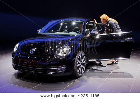 FRANKFURT - SEP 17: VW Käfer Auto angezeigt, die 64. Internationale Automobil Ausstellung (IA