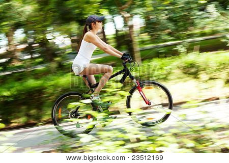 Girl Cycling
