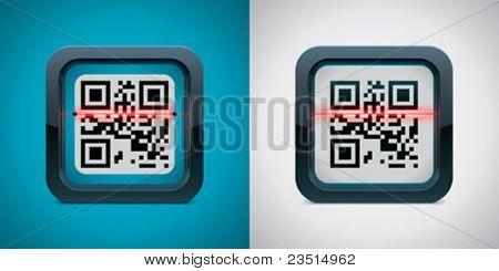 Ícone de scanner de código de vector QR